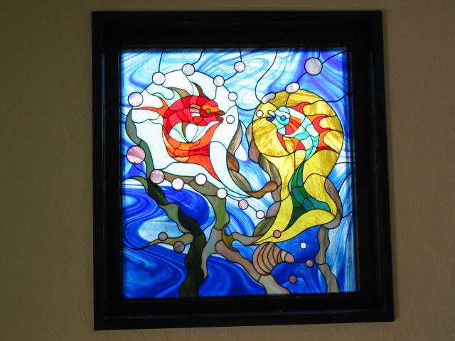 stained glass  EnglishSpanish Dictionary  wordreferencecom